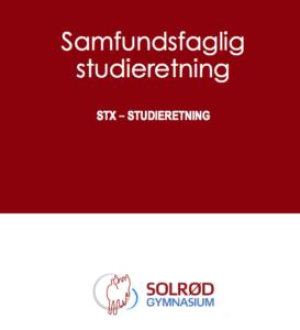 Billede af forsiden på en folder - Samfundsfaglig studieretning