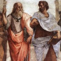 Maleri af to græske filosoffer