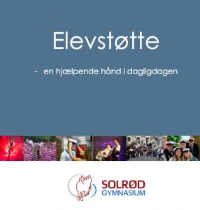 Billede af forsiden på en folder - Elevstøtte