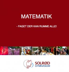 Billede af forsiden på en folder - Matematik