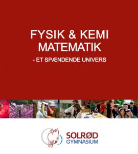 Billede af forsiden på en folder - Fysik og kemi matematik