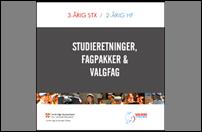 Forside af folder om studieretninger 2020/2021
