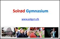 Forside præsentation af Solrød Gymnasium